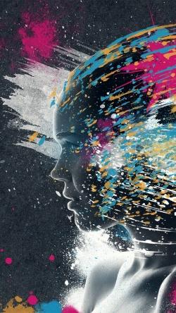 face paint explosion imagination