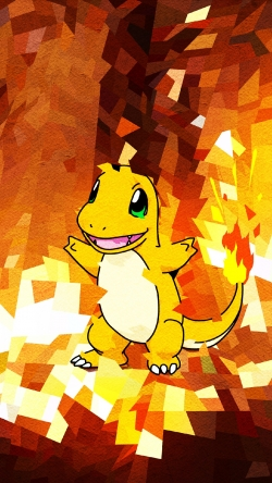 Pokemon Go Charmander fire Iphone hd wallpaper