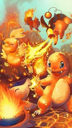 Pokemon Go Charmander fire characters Iphone hd wallpaper
