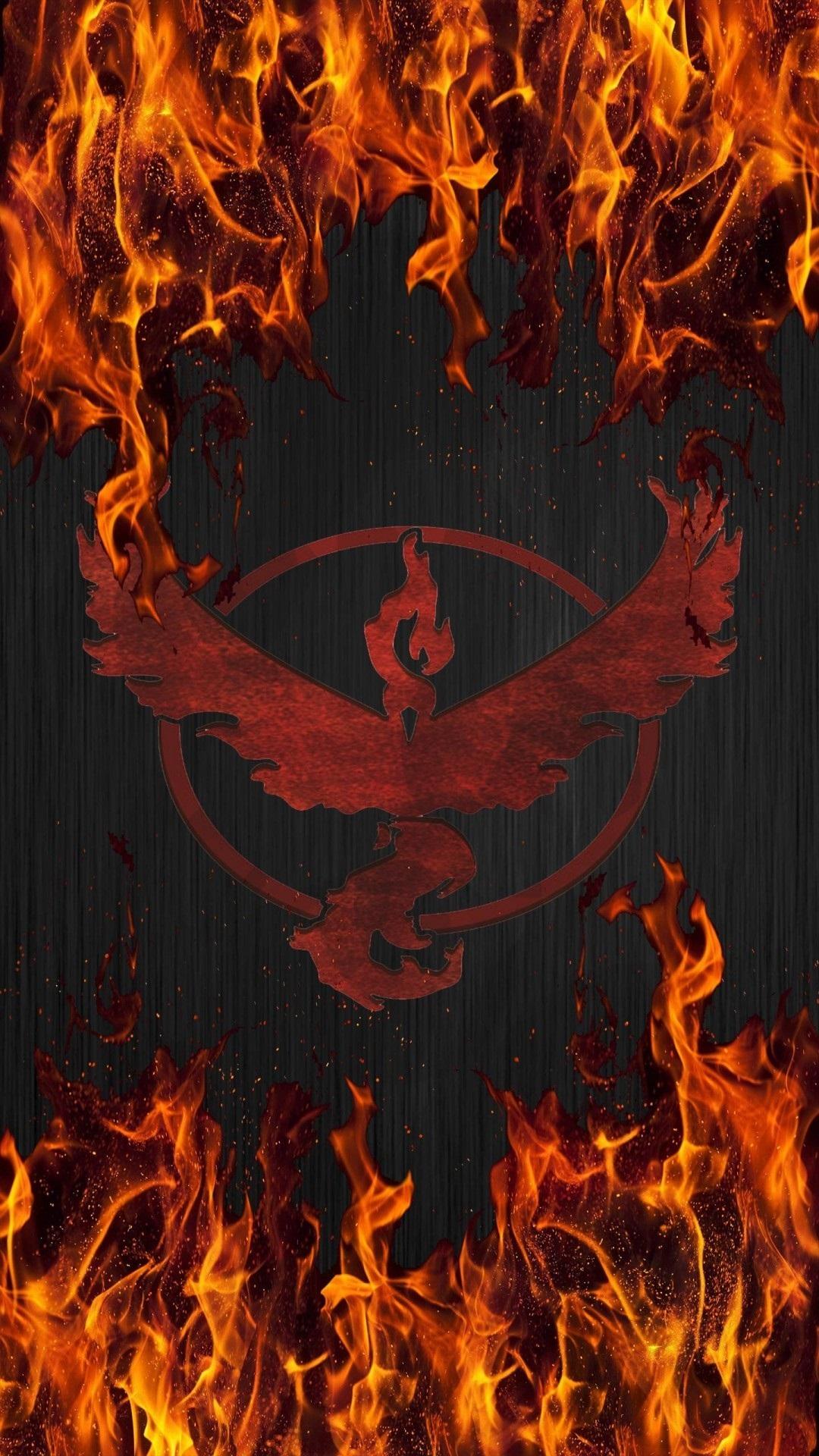 Pokemon Go team valor fire Iphone hd wallpaper - Wallect