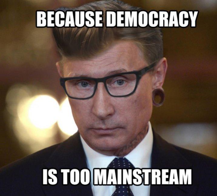 Putin bence demokrasi