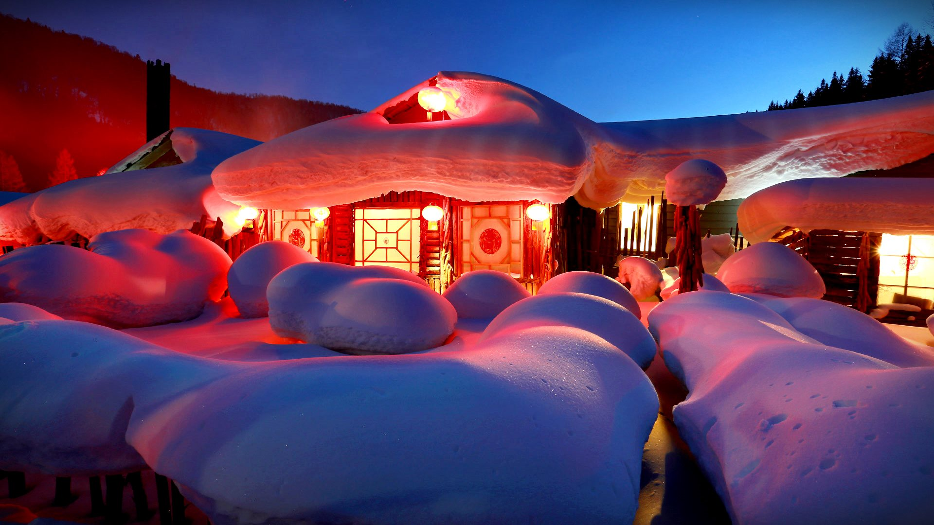 Farm Snow Villag