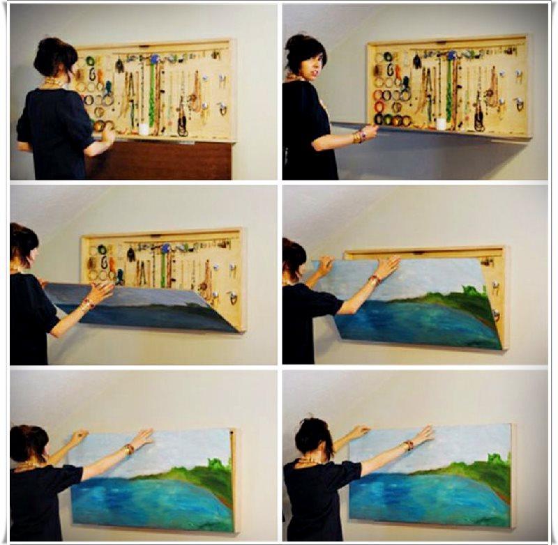 Duvar tablosu olan takılık