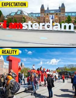 Amsterdam'da Amsterdam heykeli